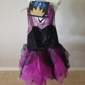 Disney Other - XL Disney Ursula Tutu Costume with Crown